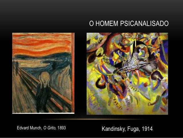 O HOMEM PSICANALISADOEdvard Munch, O Grito, 1893      Kandinsky, Fuga, 1914