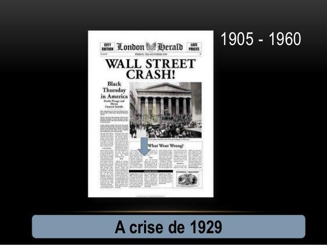 1905 - 1960A crise de 1929