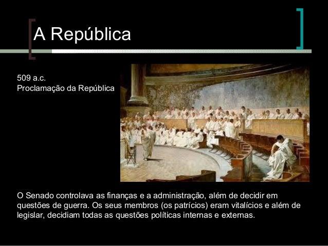 A cultura do senado Slide 3
