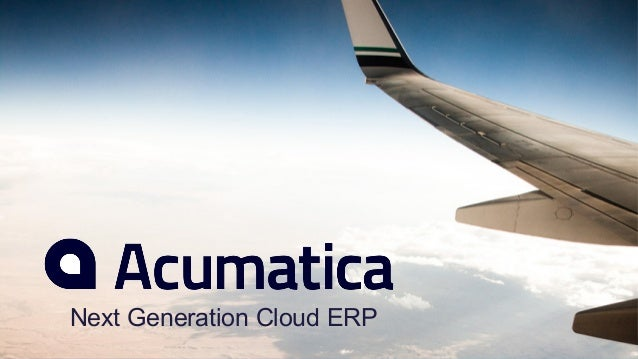 Next Generation Cloud ERP