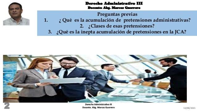 Acumulación de   pretensiones administrativas Slide 2