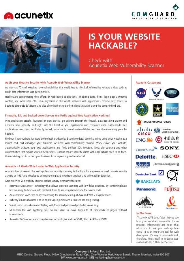 Acunetix - Web Vulnerability Scanner
