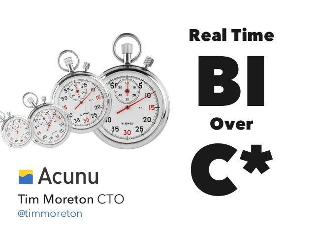 Real Time  BI C* Over  Tim Moreton CTO @timmoreton
