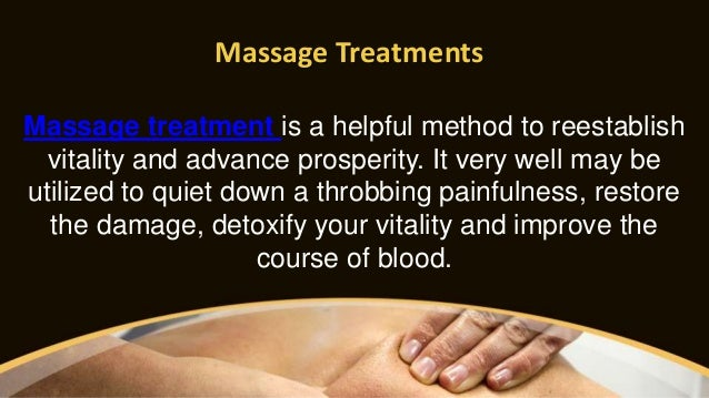 Massage Treatments Massage treatment is a helpful method to reestablish vitality and advance prosperity. It very well may ...