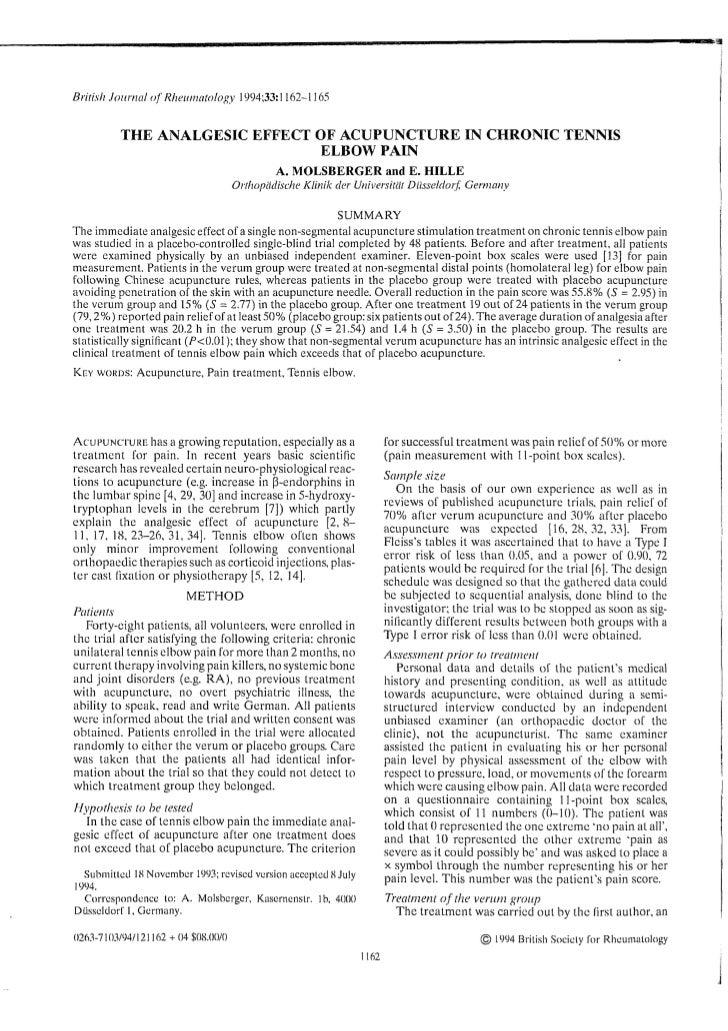 Artigo - Acupuncture in elbow pain