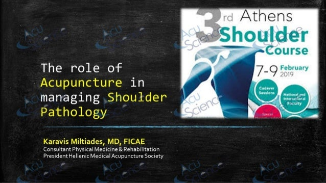 the role of Acupuncture in  the management of shoulder pathology