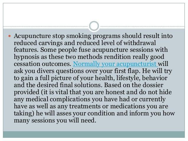 Quante sedute di agopuntura servono per smettere di fumare