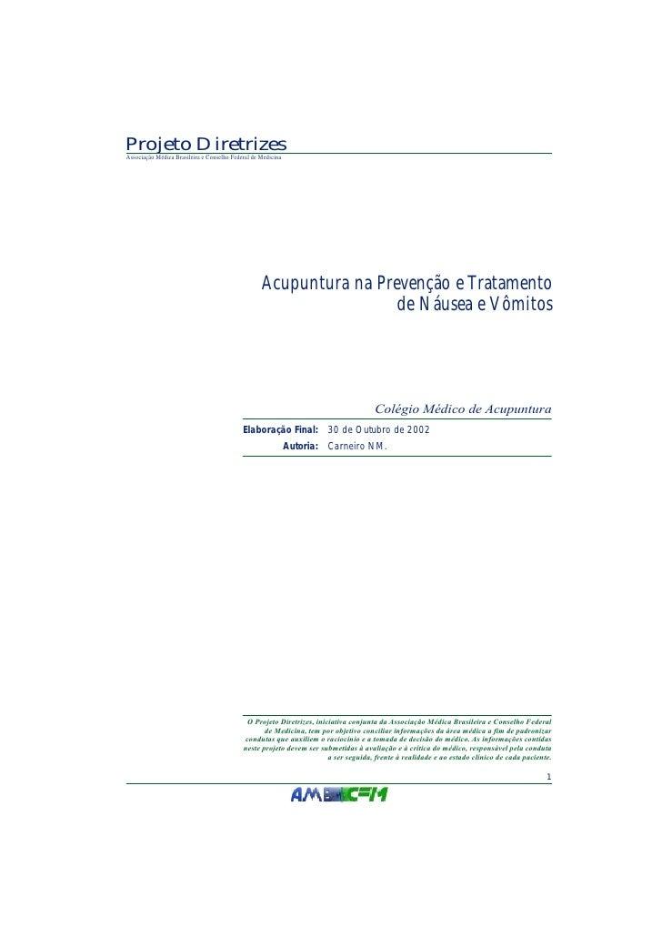 Projeto Diretrizes Associação Médica Brasileira e Conselho Federal de Medicina                                            ...