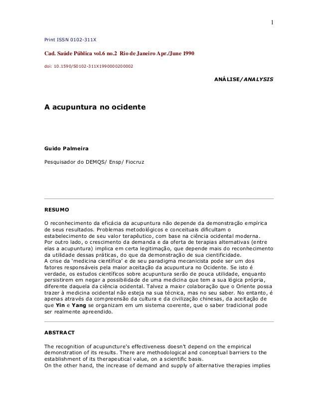 1 Print ISSN 0102-311X Cad. Saúde Pública vol.6 no.2 Rio de Janeiro Apr./June 1990 doi: 10.1590/S0102-311X1990000200002 AN...
