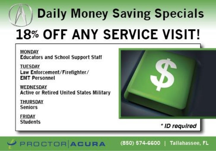 Acura Service Special FL | Acura Dealer in Tallahassee