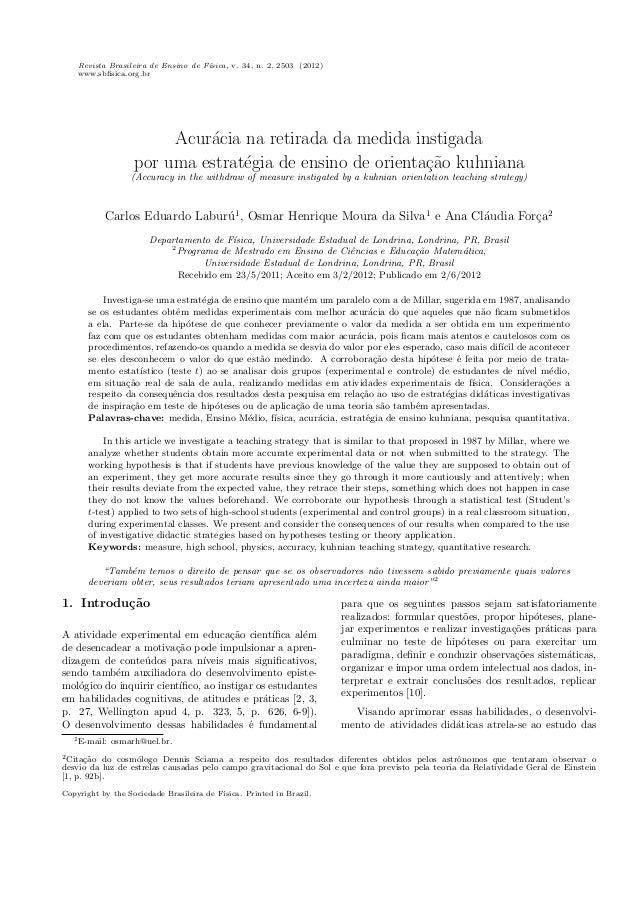 Revista Brasileira de Ensino de F´ısica, v. 34, n. 2, 2503 (2012)www.sbfisica.org.brAcur´acia na retirada da medida instiga...