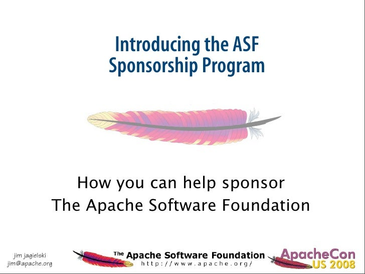 Introducing the ASF                      Sponsorship Program                       How you can help sponsor               ...