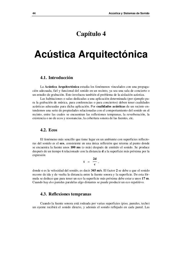 44                                                         Acústica y Sistemas de Sonido                                  ...
