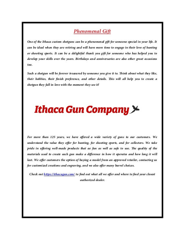 e5b9837e3b0 A custom made shotgun for your wants and needs from ithaca