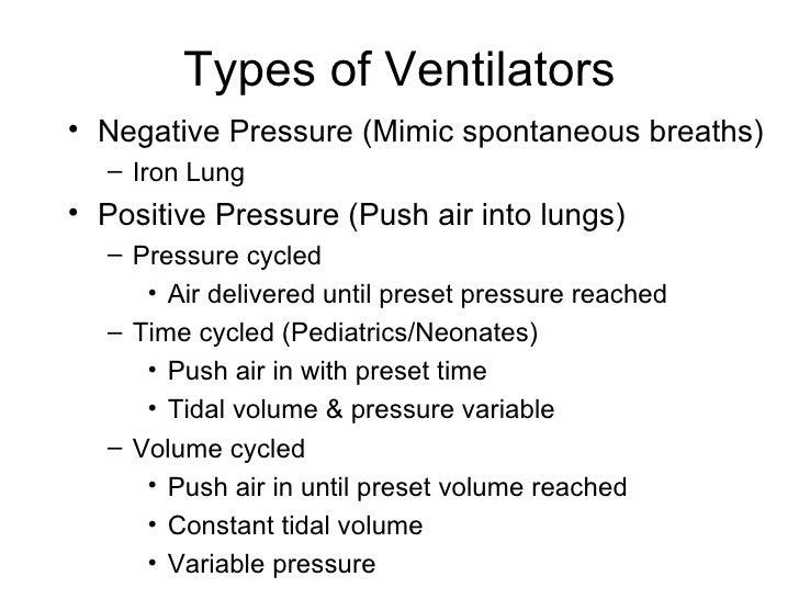 Types Of Ventilators : Acute respiratory failure mechanical ventilation