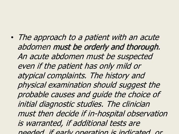 Acute abdomen Slide 3