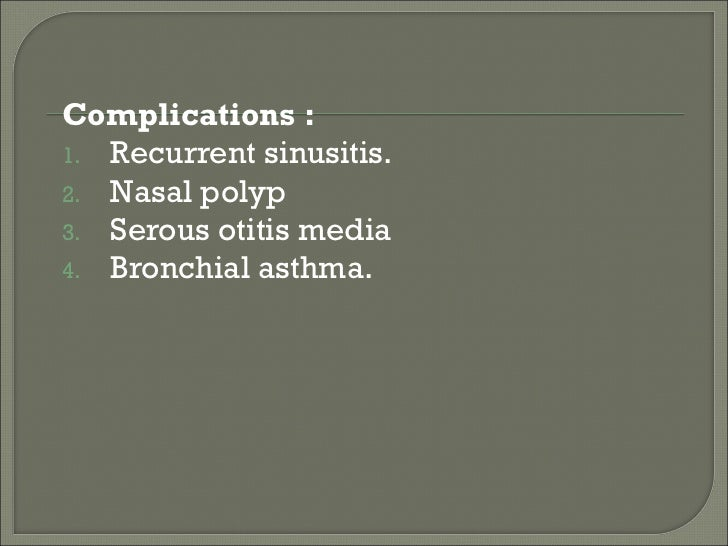 Acute And Chronic Rhinitis