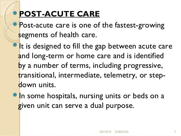 the difference between acute care hospitals and nursing homes