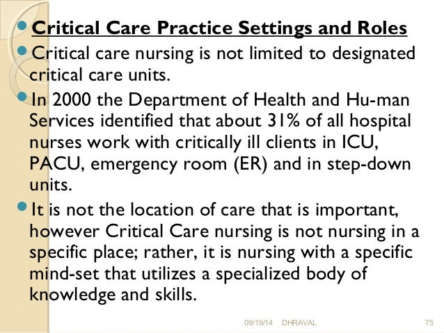 Acute and critical care, IN NURSING, MANAGEMENT OF CLIENT IN ICU.