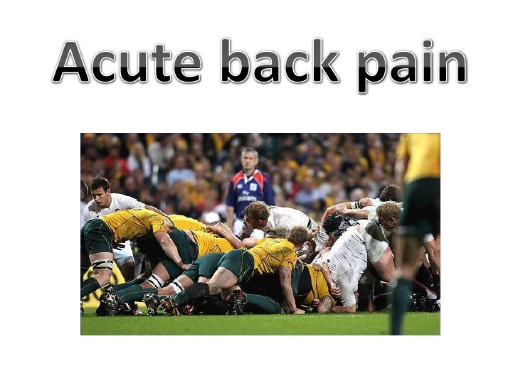 Acute back pain<br />