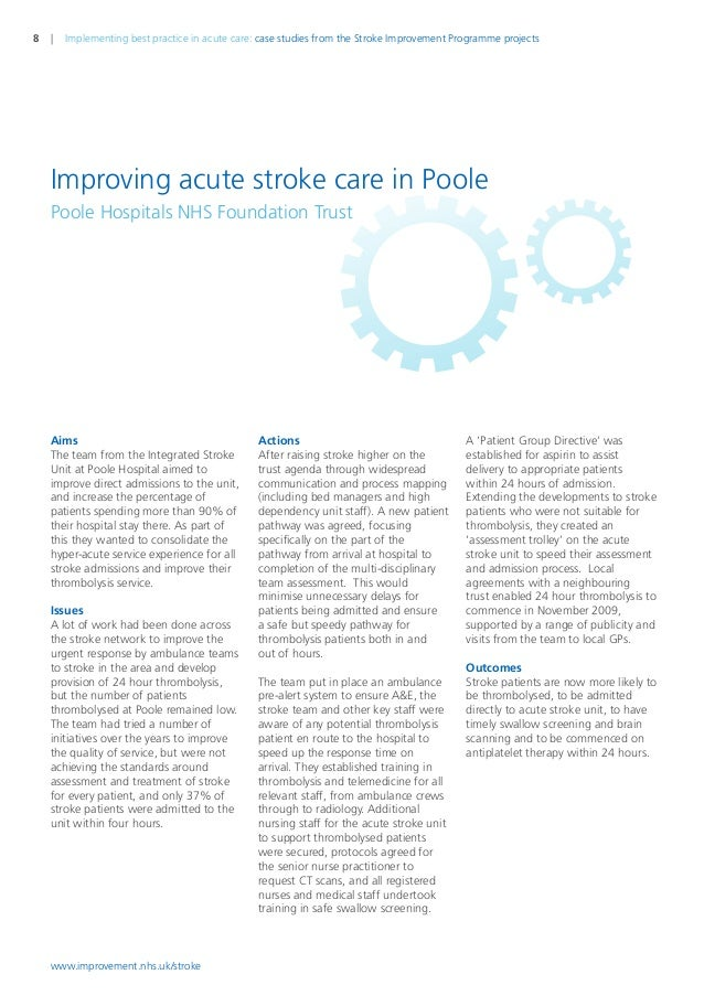 stroke case studies uk Hemorrhagic stroke case study study play general definition for stroke the syndrome of acute focal neurologic deficit from a vascular disorder that injures brain tissue also referred to as a brain attack third most common cause of death in us.