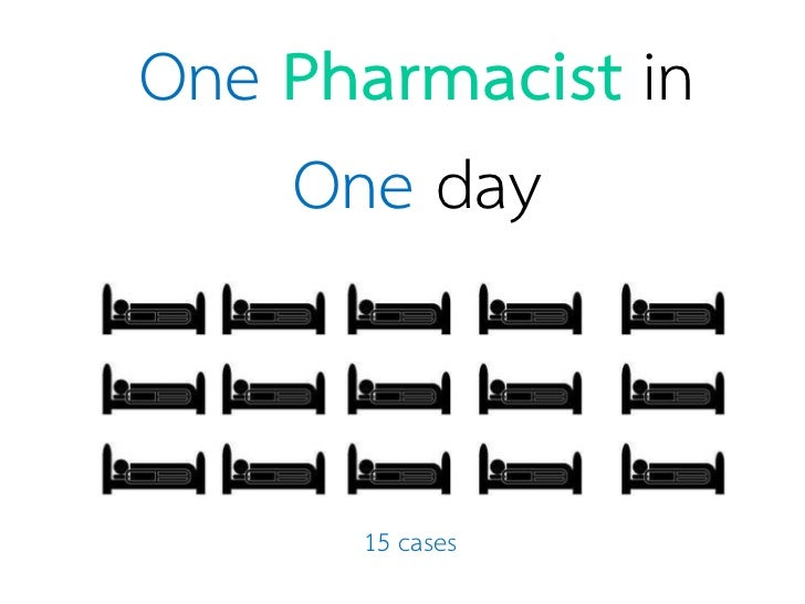 One Pharmacist in    One day      15 cases