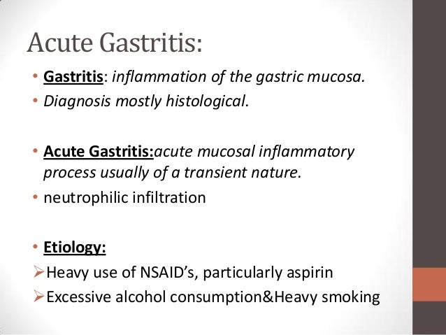 acute & chronic gastritis, Skeleton
