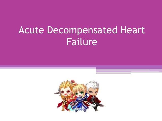 Acute Decompensated Heart Failure