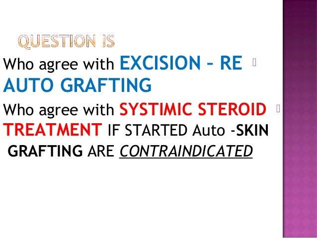 Separation of dermis from dermis with upper dermal inflammation (x10) )
