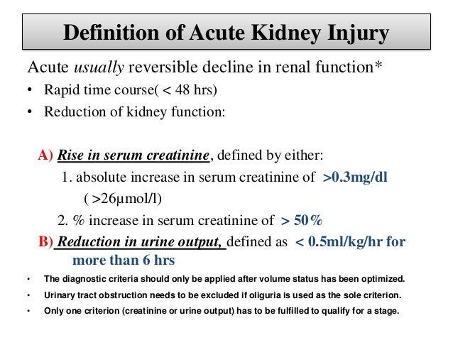 Acute Kidney Injury Aki