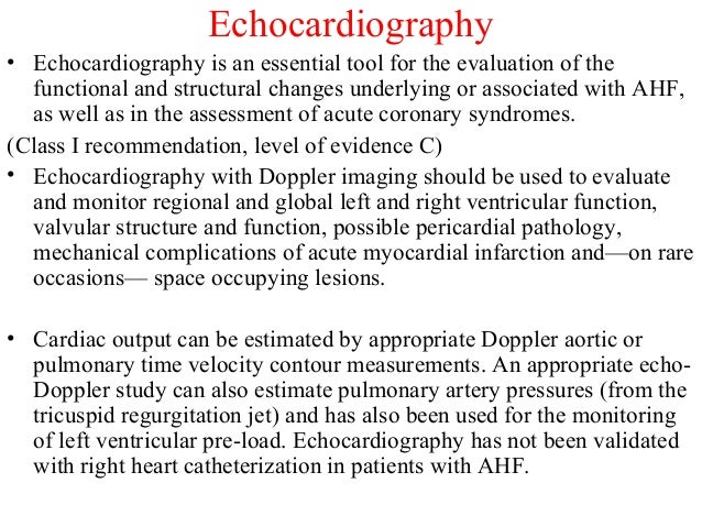 Echocardiography • Echocardiography is an essential tool for the evaluation of the functional and structural changes under...