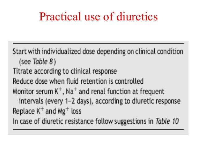 Practical use of diuretics