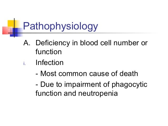 Pathophysiology  ii. Hemorrhage  - Due to thrombocytopenia or 2o  DIVC or liver disease  iii. Anaemia  - normochromic-norm...