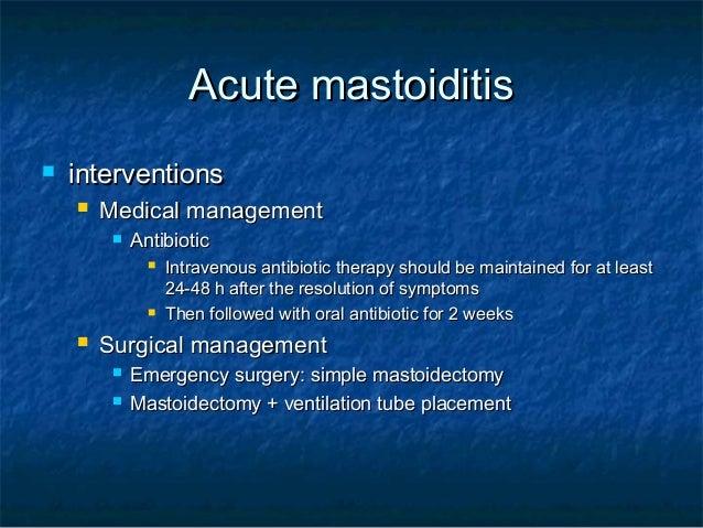 acute otitis media and mastoiditis, Skeleton