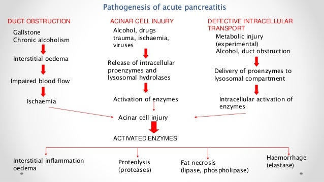 acute pancreatitis Pancreatitis is inflammation of the pancreas the pancreas is a large gland behind the stomach and close to the duodenum—the first part of the small intestine.
