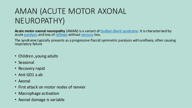 Acute motor axonal neuropathy aman and acute motor sensory for What is motor neuropathy