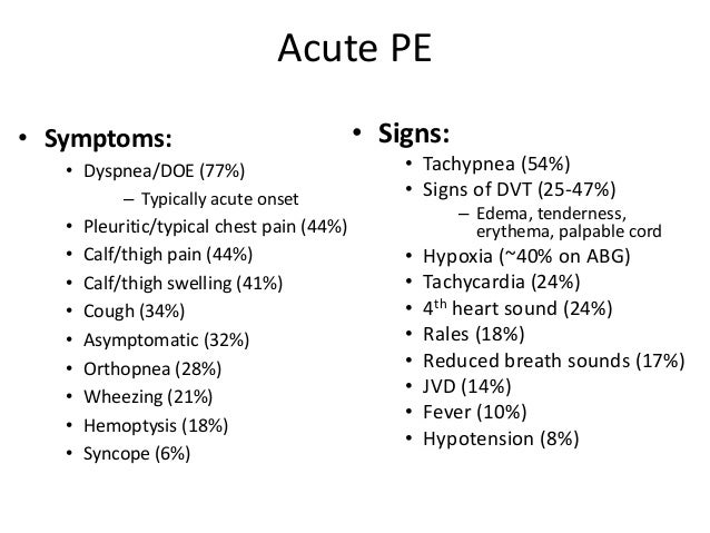 Acute Pulmonary Embolus By Atchley