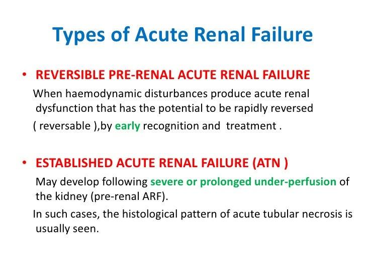 Medicine Acute Renal Failure Dr Kawa