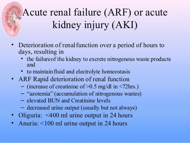acute renal failure Many people live with chronic kidney disease, and on the verge of kidney failure, without even realizing there is an issue.