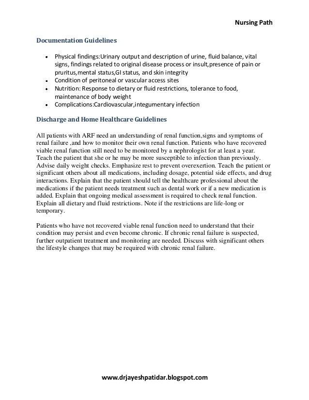 Acute Renal Failure Nursing Care Plan Amp Management