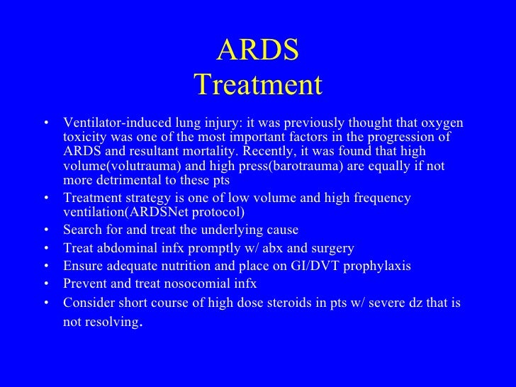 Acute (Adult) Respiratory Distress Syndrome