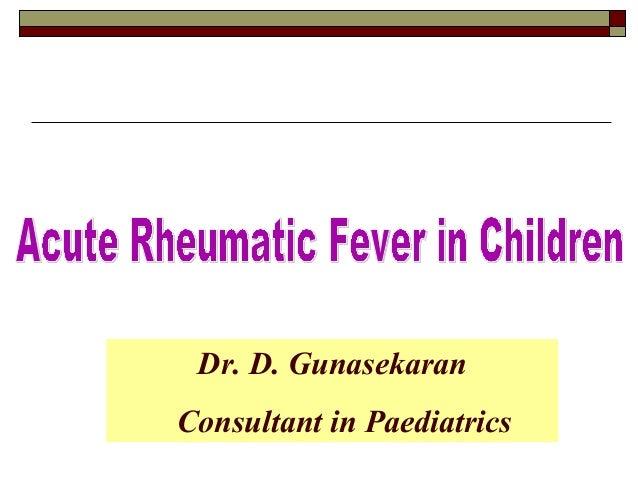 Dr. D. Gunasekaran Consultant in Paediatrics