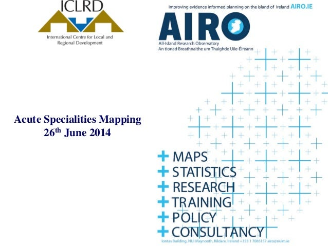 Acute Specialities Mapping 26th June 2014