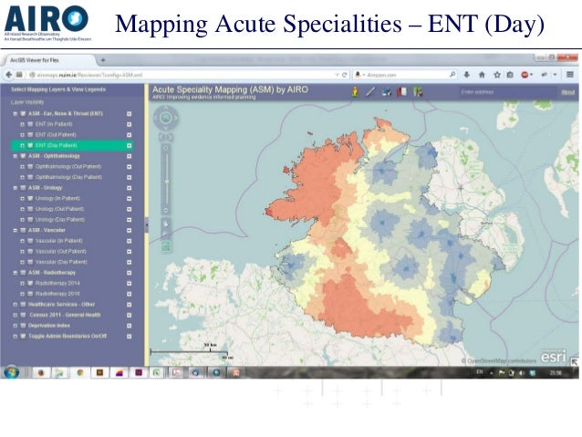 Mapping Acute Specialities – ENT (Day)