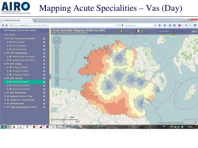 Mapping Acute Specialities – Vas (Day)