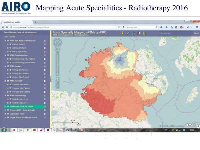 Mapping Acute Specialities - Radiotherapy 2016