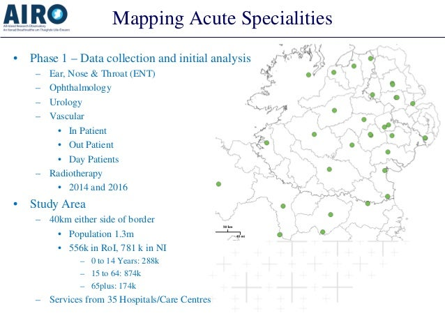 Mapping Acute Specialities • Phase 1 – Data collection and initial analysis – Ear, Nose & Throat (ENT) – Ophthalmology – U...