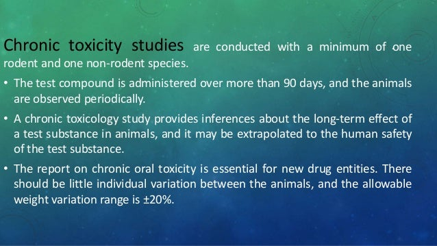Chronic Toxicity and Oncogenicity Study in Rats and ...