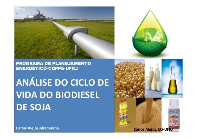 PROGRAMA DE PLANEJAMENTO ENERGÉTICO-COPPE-UFRJ ANÁLISE DO CICLO DE VIDA DO BIODIESEL DE SOJA Carlos Alejos Altamirano Carl...