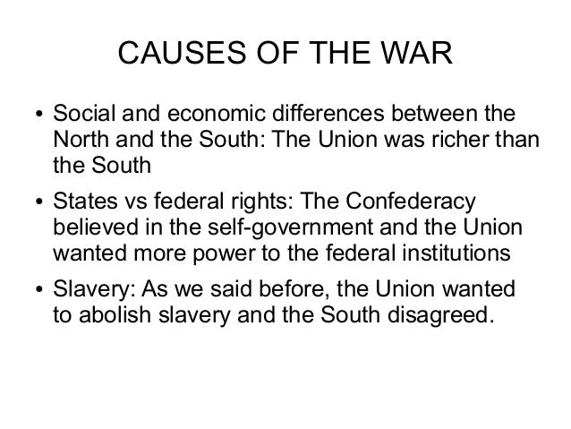 economic causes of the civil war